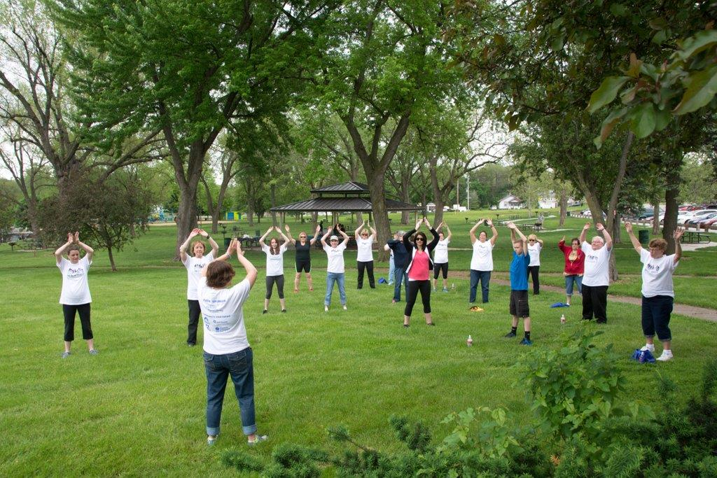Tai Chi at ENOA walk May2015